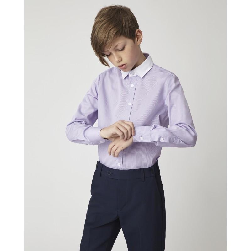 Сиреневая рубашка Gulliver