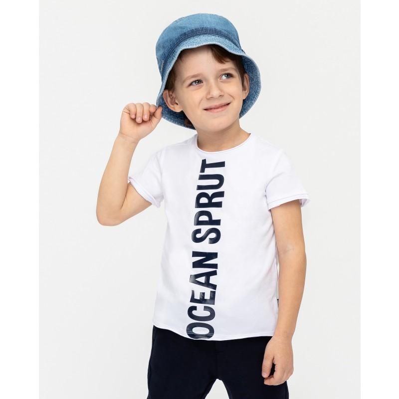 Белая футболка с принтом Gulliver