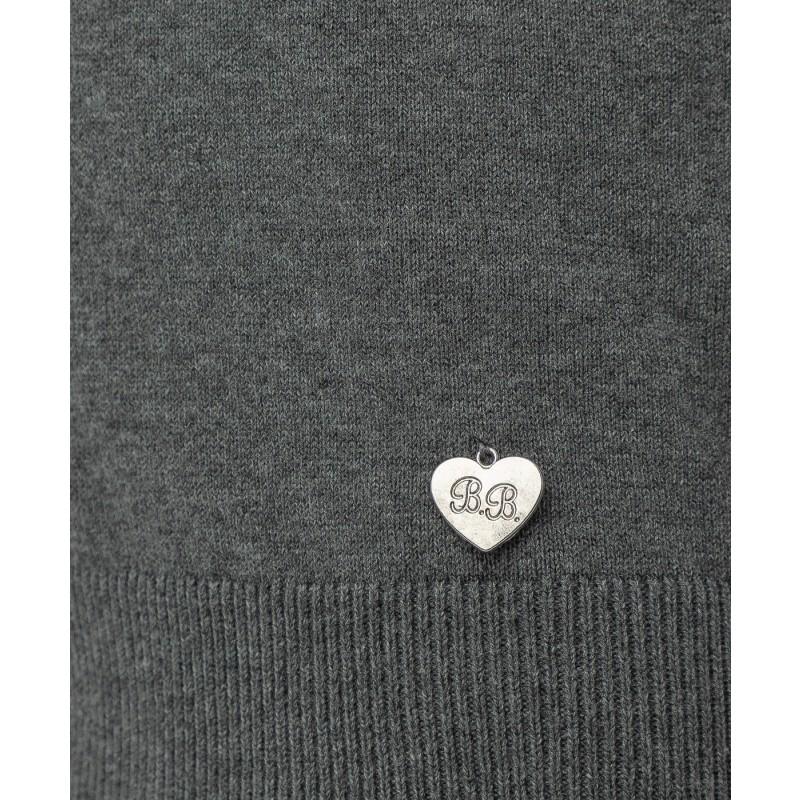 Серый трикотажный жилет Button Blue (фото 5)
