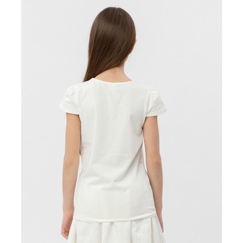 Белая футболка с коротким рукавом Button Blue (фото 4)