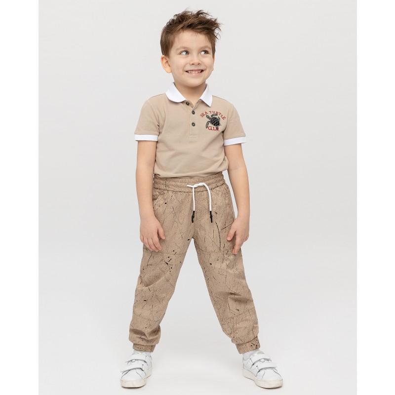 Бежевые брюки с принтом Gulliver