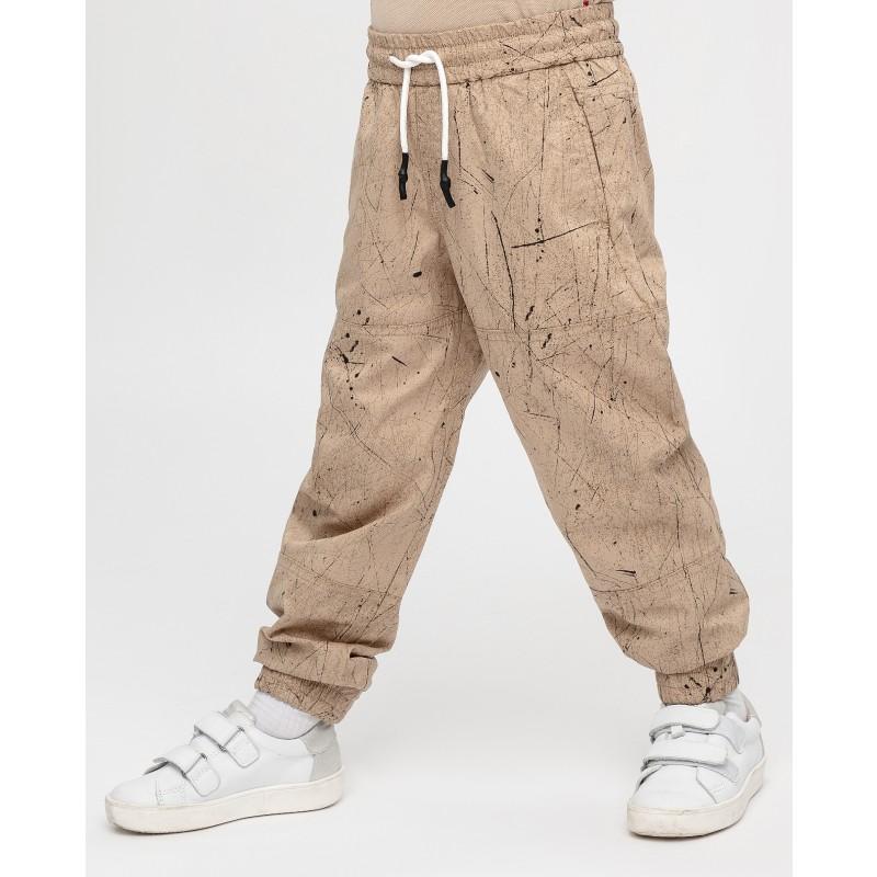 Бежевые брюки с принтом Gulliver (фото 2)