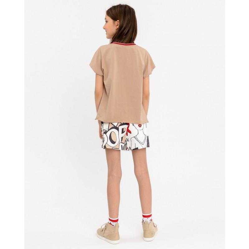 Двухцветная футболка с принтом Gulliver (фото 4)