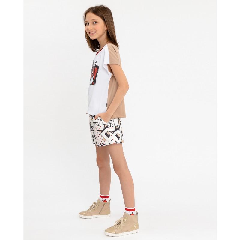 Двухцветная футболка с принтом Gulliver (фото 3)