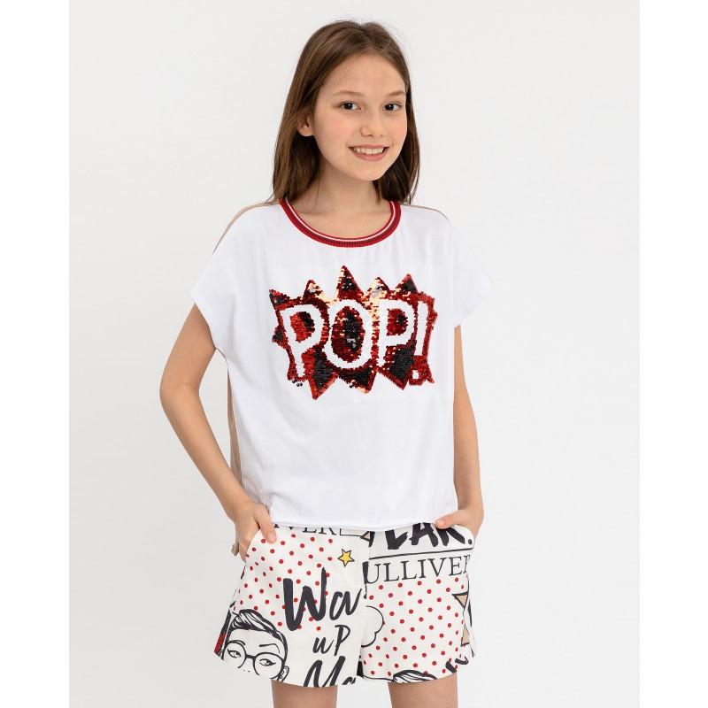 Двухцветная футболка с принтом Gulliver (фото 5)
