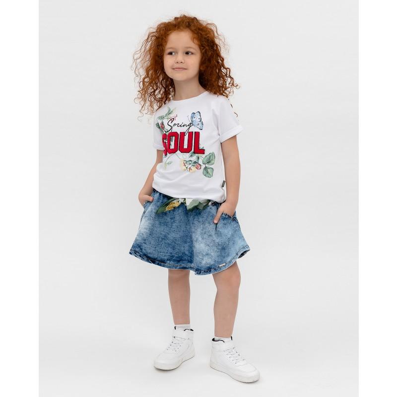 Белая футболка с принтом Gulliver (фото 2)
