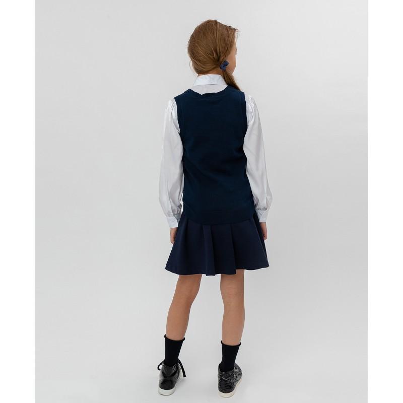 Синий трикотажный жилет Button Blue (фото 3)
