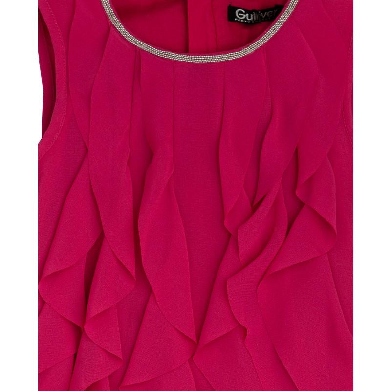 Розовое нарядное платье Gulliver (фото 3)
